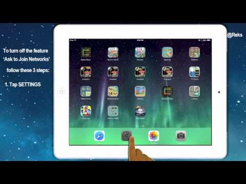 Save iPad Battery - Turn OFF Automatic Network Joining