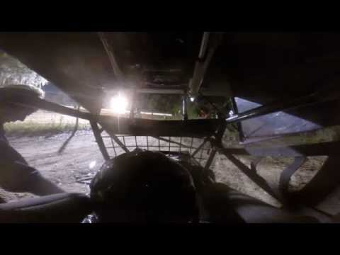 Ride in seat with 12 yr boy driving a 600cc GSXR powered mini micro sprint car GOPRo