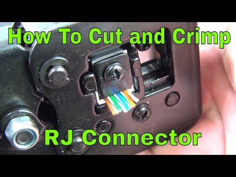 How To Easy Connect RJ45 connectors and crimp tool review
