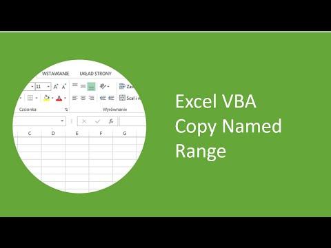Excel VBA - Copy Named Range
