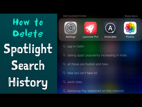 How to Delete SPOTLIGHT SEARCH HISTORY.