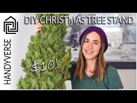 How to Make a Christmas Tree Stand for Under $10 : Quick Fix #02
