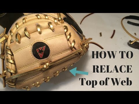HOW TO RELACE - Catchers Glove Top of Web