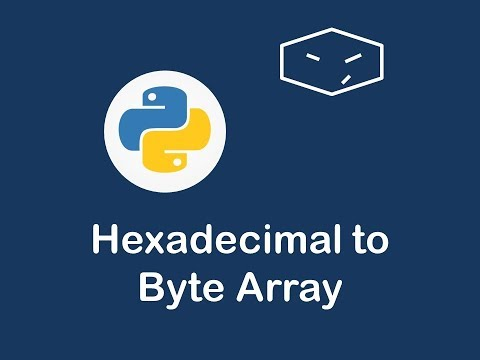hexadecimal string to byte array in python