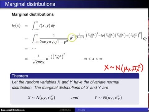 Bivariate normal distribution marginal distributions