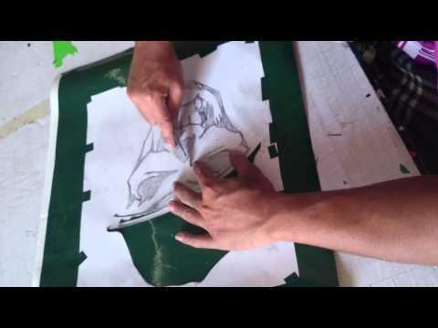 Hand cutting...sticker