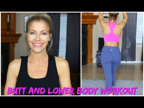 At Home Butt Workout and Lower Body Workout for Bad Knees ~ Jenifer Jenkins ~  Over 40