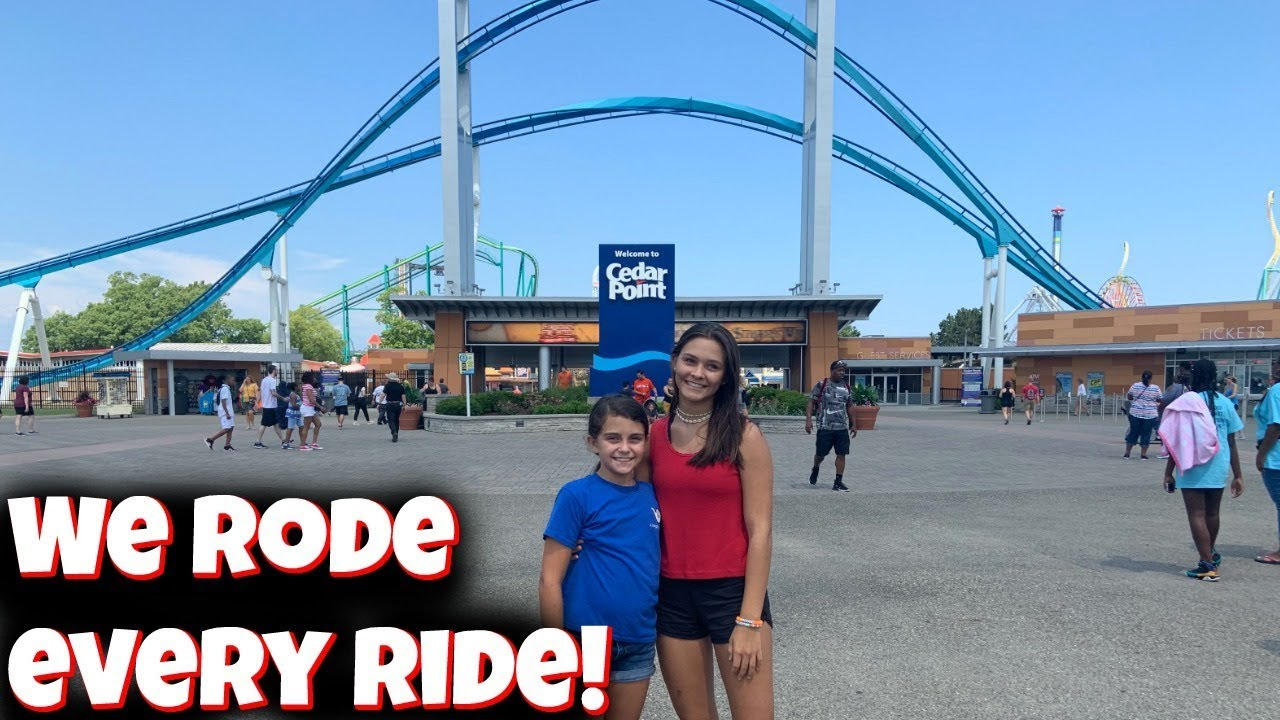 RIDING Every Ride In Cedar Point! Officially on vacation! Emma and Ellie