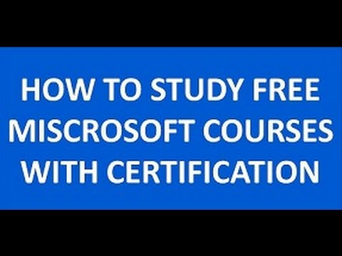 FREE MISCROSOFT CERTIFICATION AND COURSES TUTORIAL