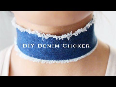 DIY Denim Choker | Amrani & Roy