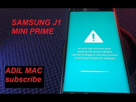 UNBRIKING and restoring SAMSUNG J1 MINI PRIME an error has occured 2018