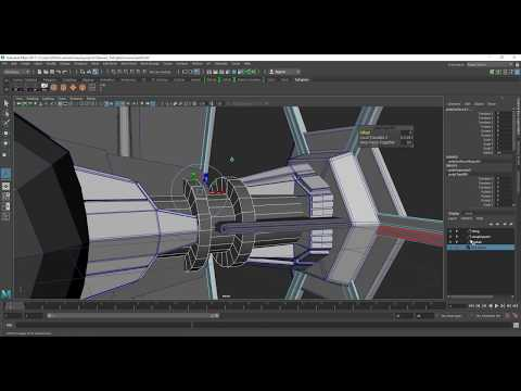 Tie Fighter Modelling in Maya Part 10 [Modifying Wing Support]