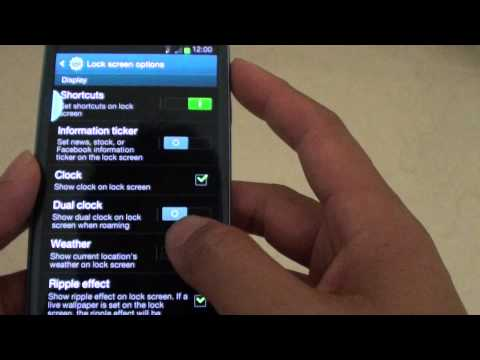 Samsung Galaxy S3: How to Show or Hide Weather Information on the Lock Screen