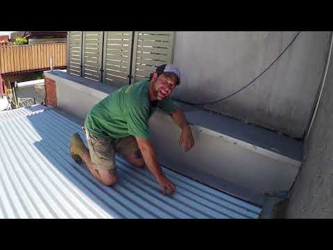 What angle for a Corrugated iron and roof pitch