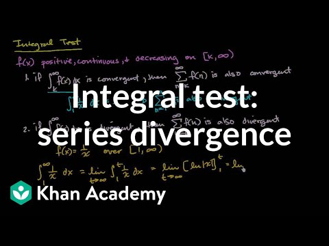 Worked example: Integral test | Series | AP Calculus BC | Khan Academy