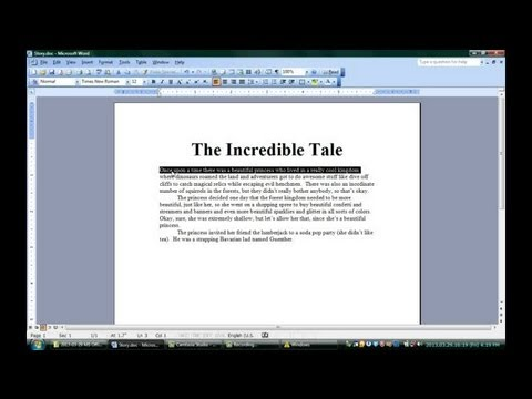 How to Make Words Underlined & Extend the Width of the Sheet in Micr... : Microsoft Office Software