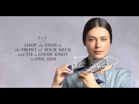 How To Tie A French Twist Scarf Knot | Brooks Brothers