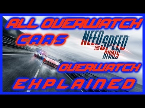 NEED FOR SPEED RIVALS | ALL OVERWATCH CARS & ALL WRAPS | BENTLEY & MASERATI | OVERWATCH APP | HD
