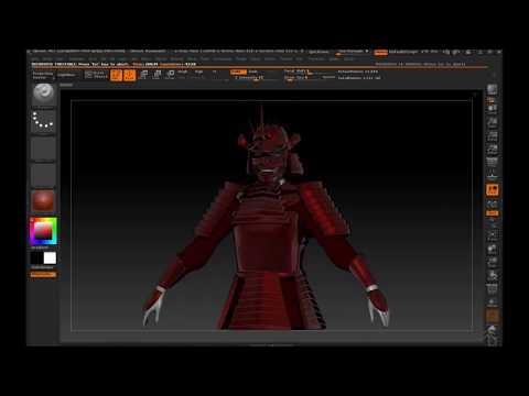 ZBrush Turn Around - CoKreeate Red Samurai