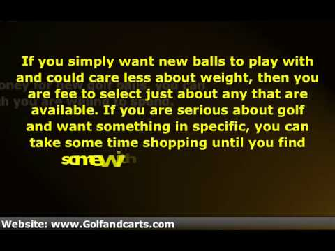 Buy Golf Balls -- Shopping Around for the Best Deal