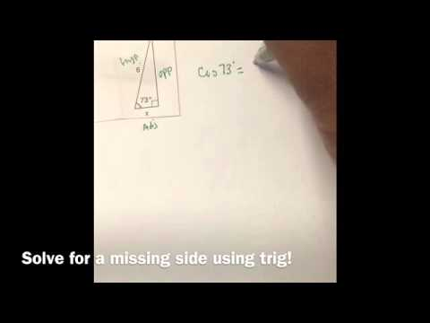 Solve for a missing side trig variable in numerator