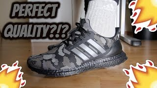 6a1a74f8304 Bape x Adidas Ultra Boost  BLACK CAMO  REVIEW ON-FEET