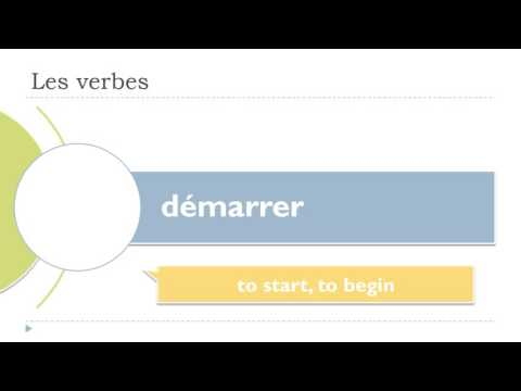 Fluent in French in less than 3 months # Learn 10 verbs # 41