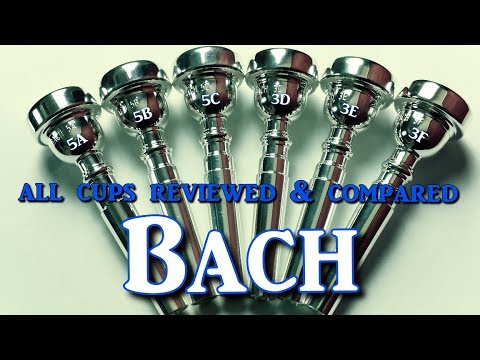 First Ever Review & Comparison of ALL Bach Trumpet Mouthpiece Cup sizes by Kurt Thompson