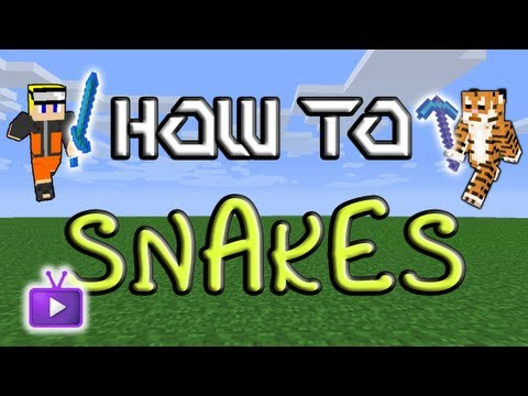 Minecraft How To: Mo' Creatures - Taming Snakes