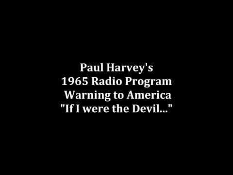 Paul Harvey's 1965 Radio Warning to America -