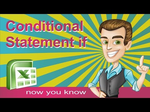 IF function in excel - How to use IF formula for conditional statement - Tutorial