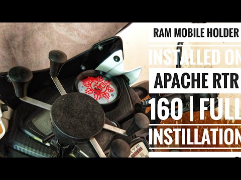 How to install mobile holder & charger on any motorcycle | Ram mount | Installation