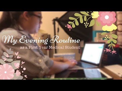 Evening Routine of a First Year Medical Student - Graduate Entry Medicine