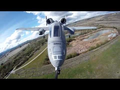 Banana Hobby RC A-10 Aggressive in flight maneuvers captured with a GoPro Hero