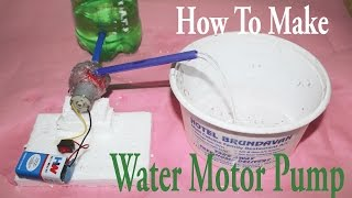 How To Make a Mini Water Motor Pump At Home Easy Way