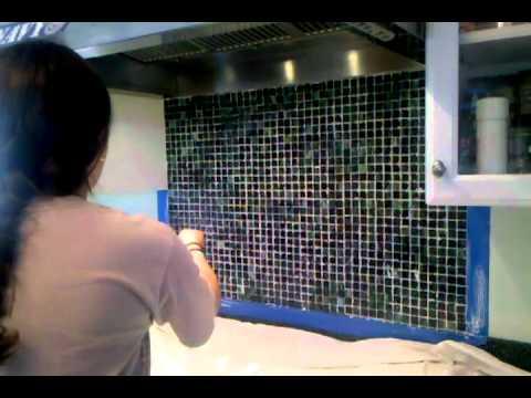 backsplash installation 2