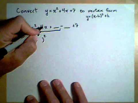 Changing a Quadratic to Vertex Form