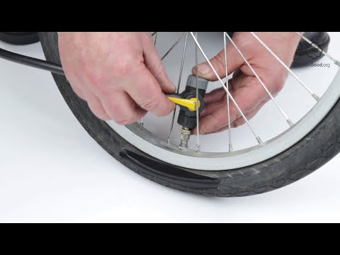 Inflate A Bike Tyre With A Woods Valve Or A Dunlop Valve