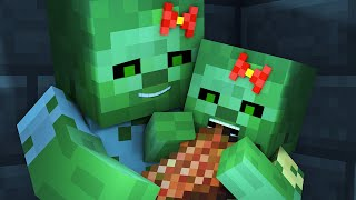 Zombie vs Villager Life 4 - Alien Being Minecraft Animation