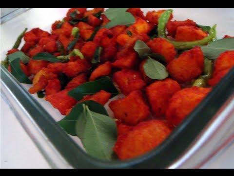 Recipe - Aloo 65 (Potato Fritters) Recipe With English Subtitles