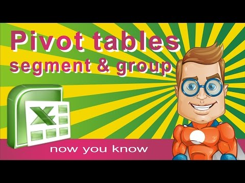 Pivot Table for Segments and Groups - How to make and modify pivot table in excel  - Tutorial