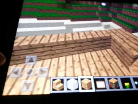 How to make a roof in Minecraft PE