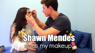 Shawn Mendes Does My Makeup CHALLENGE + responding to Justin