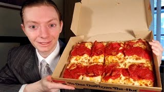Pizza Hut NEW Detroit Style Pizza Review!