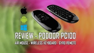 Review Podoor PC 100 Remote & Air Mouse 2.4G Wireless Keyboard