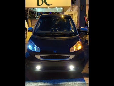 DIY - How to replace front DRL with LED (Smart fortwo 451)