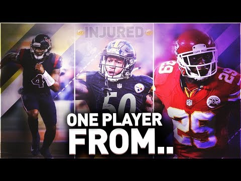 ONE INJURED PLAYER FROM EVERY AFC TEAM IN THE NFL! MADDEN 18 ULTIMATE TEAM