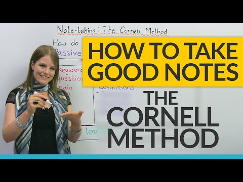 How to study efficiently: The Cornell Notes Method