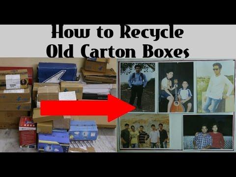 Cardboard Recycling - DIY Life Hacks -Photo Frame,Notice Board or Memo Board