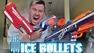 EXPERIMENT!! LIQUID NITROGEN ICE BULLETS VS  NERF / ZING BOW  (MOST DANGEROUS TOY OF ALL TIME!)
